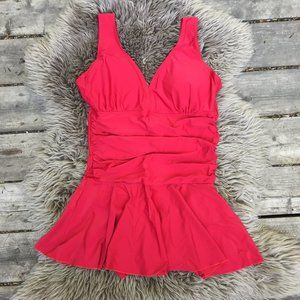 NWT Summer Mae shaping red swimsuit - size L